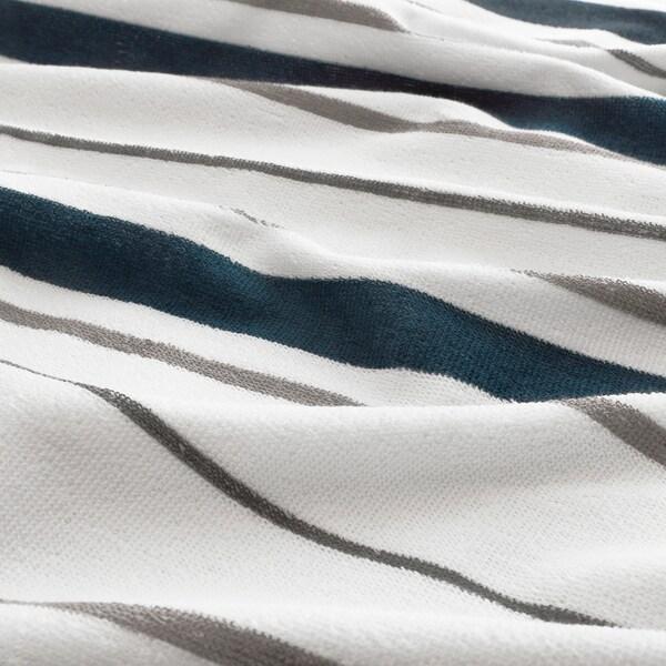 OTTSJÖN fürdőlepedő fehér/kék 140 cm 70 cm 0.98 m² 390 g/m²