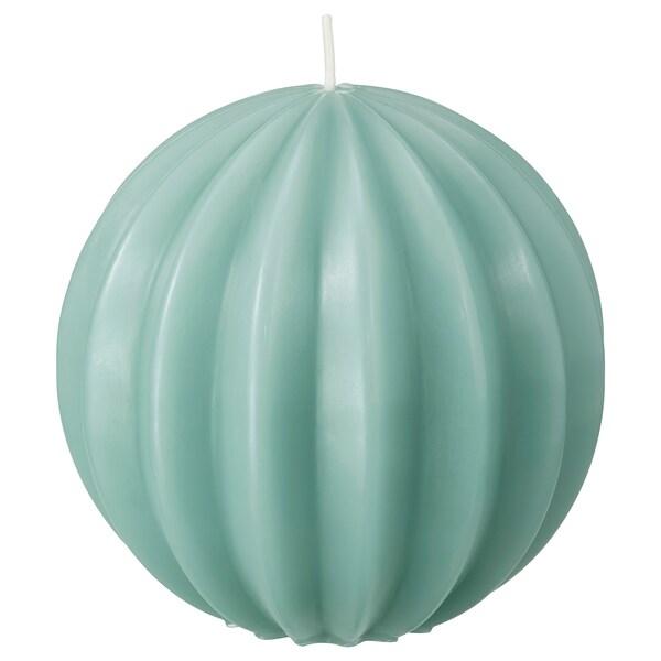 OVÄRDERLIG tömbgyertya kerek/zöld 9.5 cm 10 cm 28 óra