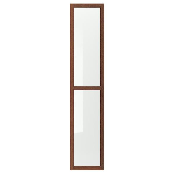 OXBERG Üvegajtó, barna kőris furnér, 40x192 cm