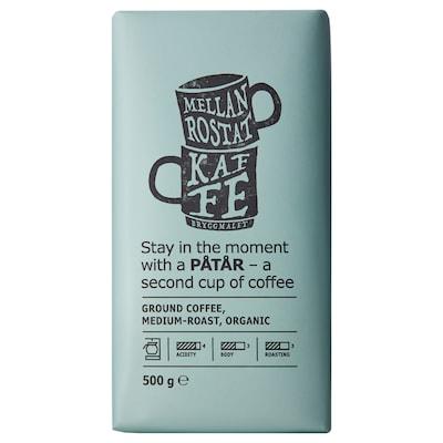 PÅTÅR filteres kávé, közepes pörkölésű bio/UTZ minősített 100% Arabica kávébab 500 gr