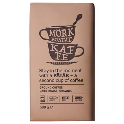 PÅTÅR Filteres kávé sötét pörkölésű, bio/UTZ minősített 100% Arabica kávébab