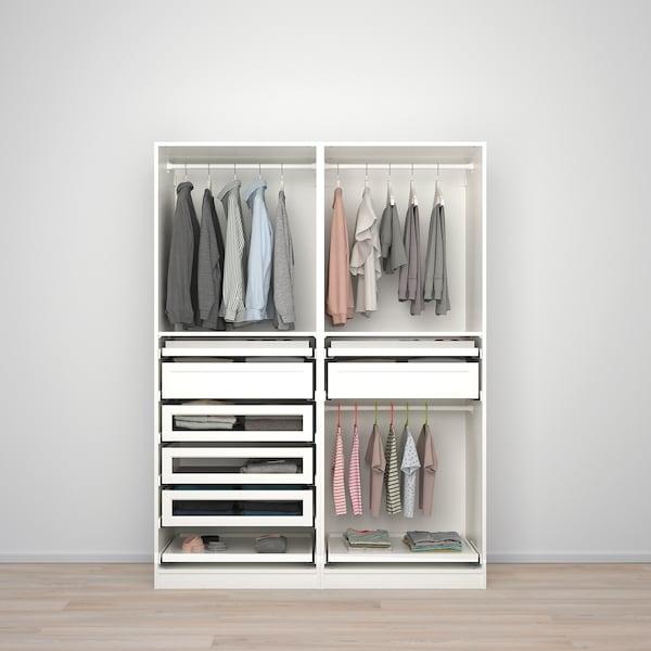 PAX Gardrób komb, fehér, 150x58x201 cm