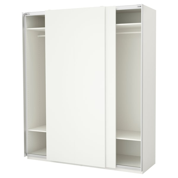 PAX gardrób fehér/Hasvik fehér 200 cm 66 cm 236.4 cm