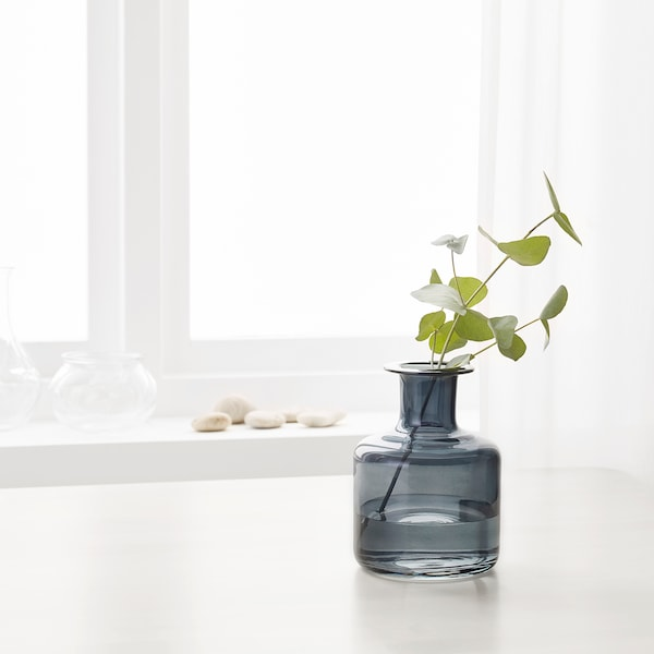 PEPPARKORN Váza, szürke, 17 cm