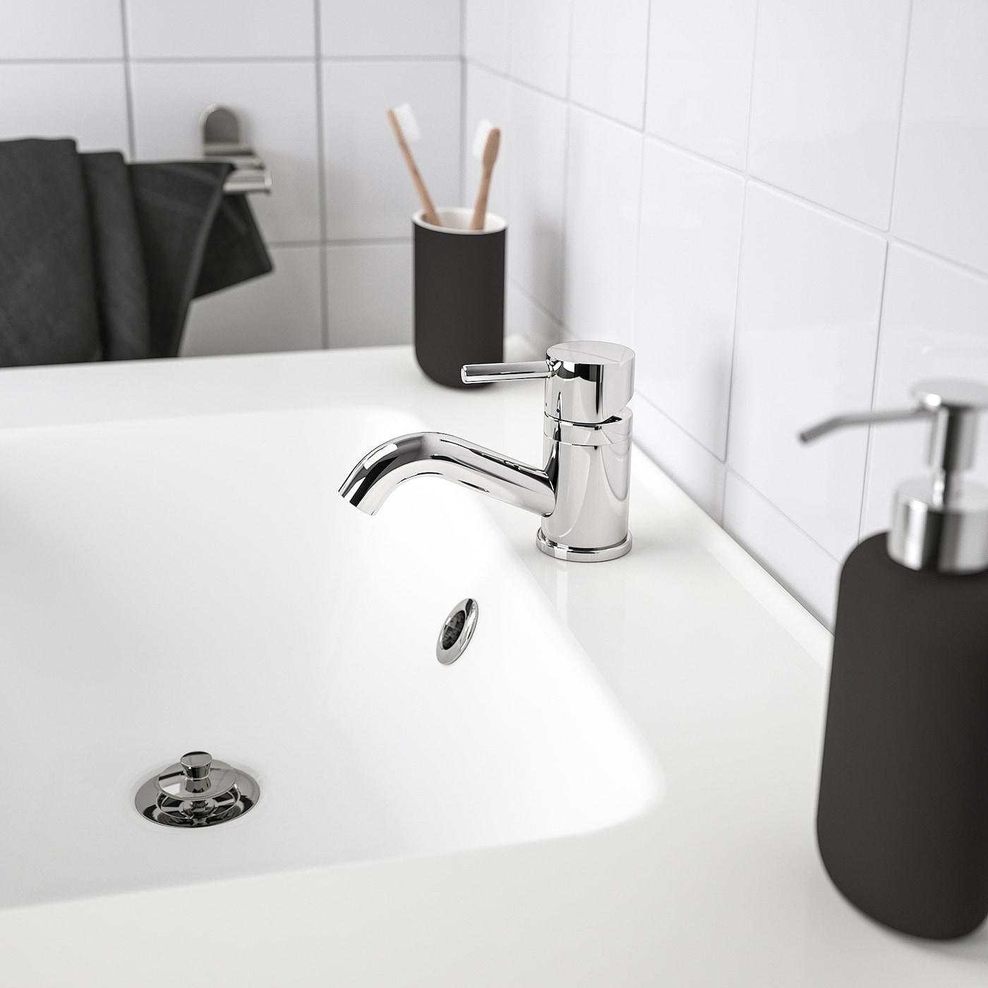 PILKÅN Fürdőszobai csap/szűrő, krómozott