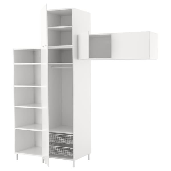PLATSA Gardrób, fehér/Fonnes fehér, 240x57x251 cm