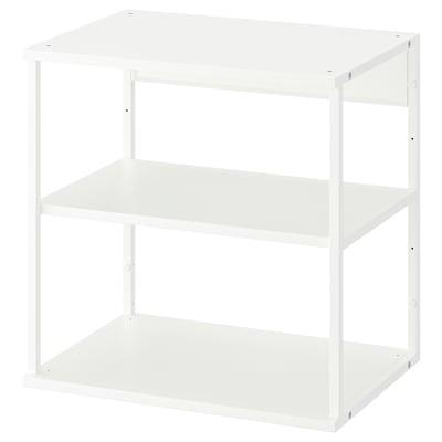 PLATSA Nyitott polcelem, fehér, 60x40x60 cm