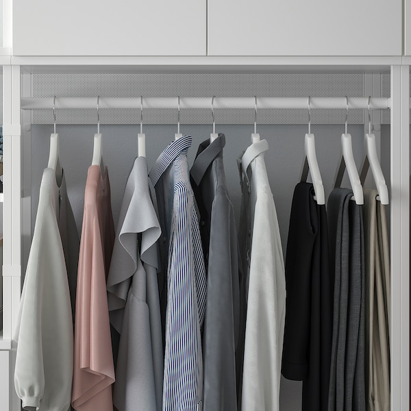 PLATSA Tárolókombináció+6 ajtó+3 fiók, fehér/Fonnes fehér, 420x42x241 cm