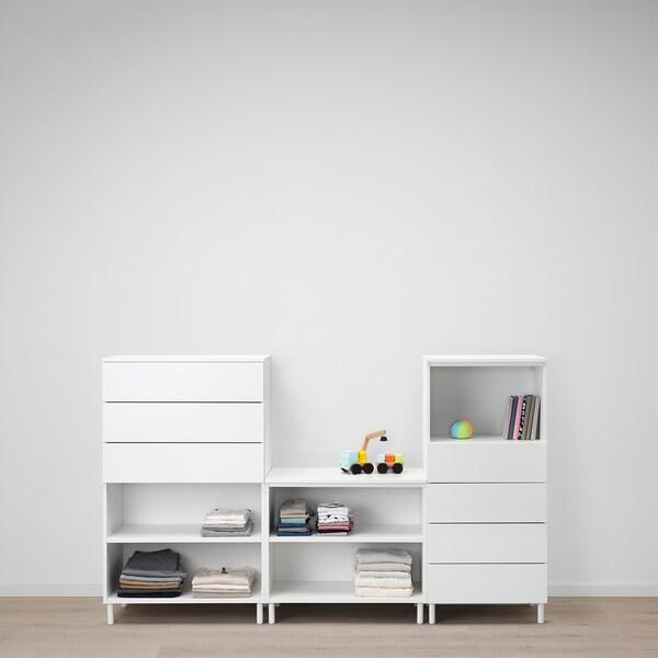 PLATSA Tárolókombináció, fehér/Fonnes fehér, 220x42x133 cm