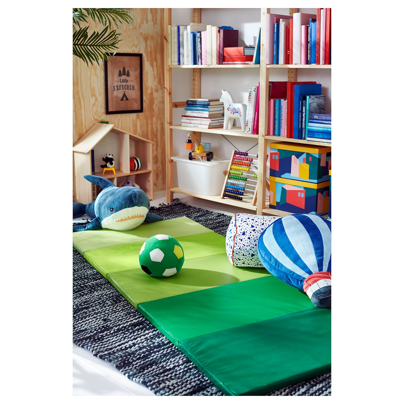 PLUFSIG Összehajtható tornaszőnyeg, zöld, 78x185 cm
