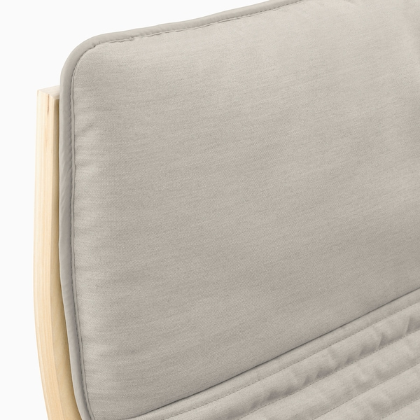 POÄNG fotel nyír furnér/Knisa világosbézs 68 cm 82 cm 100 cm 56 cm 50 cm 42 cm