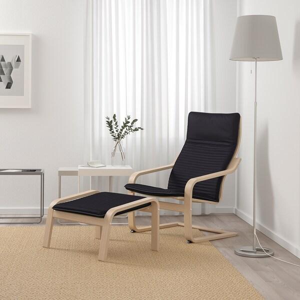 POÄNG Fotel, fehérre pácolt tölgy furnér/Knisa fekete