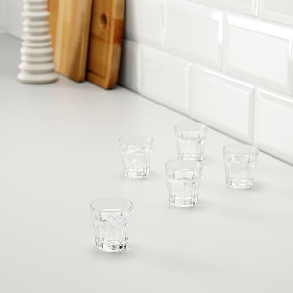 POKAL Pálinkáspohár készlet, átlátszó üveg, 5 cl