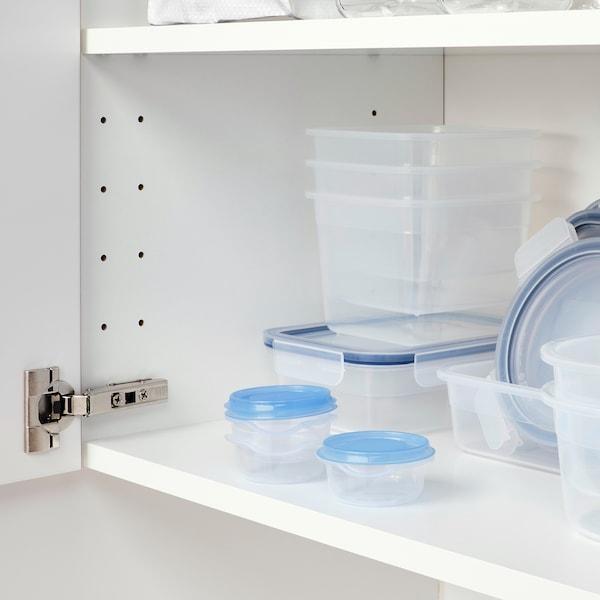 PRUTA Ételtároló, átlátszó/kék, 70 ml