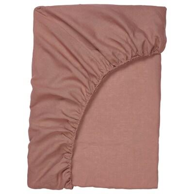PUDERVIVA Gumis lepedő, sötét rózsaszín, 90x200 cm