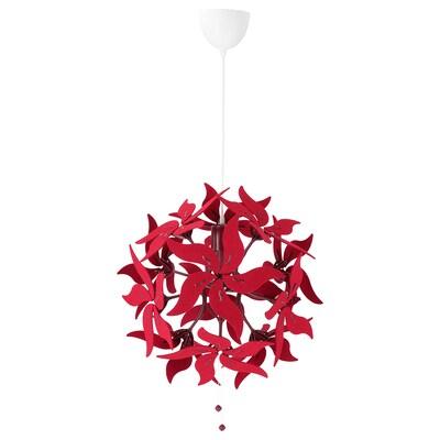 RAMSELE Függőlámpa, virág/sötétpiros, 43 cm