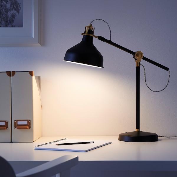 RANARP asztali lámpa fekete 11 W 42 cm 19 cm 159 cm
