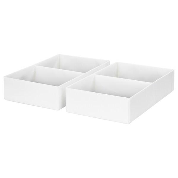 RASSLA doboz belső elosztókkal fehér 25 cm 41 cm 9 cm 2 darabos