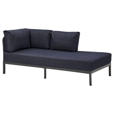 RÅVAROR Kanapéágy 2 matraccal, sötétkék/Moshult kemény, 90x200 cm
