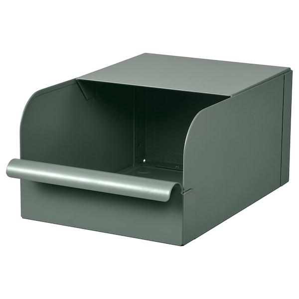 REJSA Doboz, szürke-zöld/fém, 17.5x25.0x12.5 cm