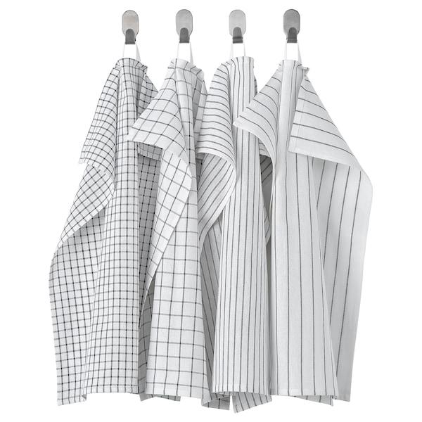 RINNIG Konyharuha, fehér/sötétszürke/mintázott, 45x60 cm
