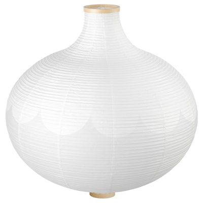 RISBYN Függőlámpaernyő, hagyma alakú/fehér, 57 cm