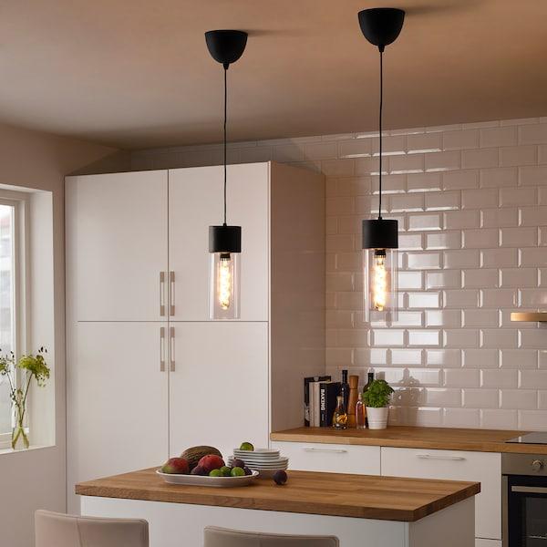 ROLLSBO LED-es izzó E27 200 lm fényereje szabh/henger alakú szürke üveg 1800 kelvin 200 lumen 34 mm 5.5 W 1 darabos