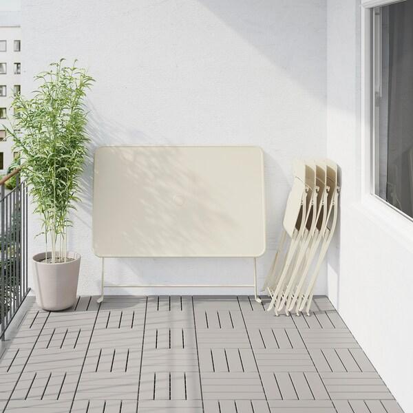 IKEA SALTHOLMEN Asztal+4 összecsukh. szék, kültéri