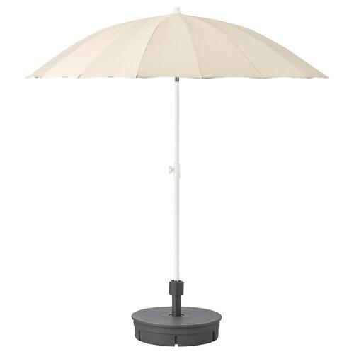 SAMSÖ napernyő+talpazat bézs/Grytö sszürke 200 cm 32 mm 169 cm 234 cm