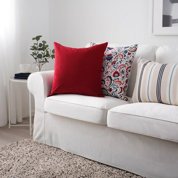 SANELA Díszpárnahuzat, piros, 50x50 cm