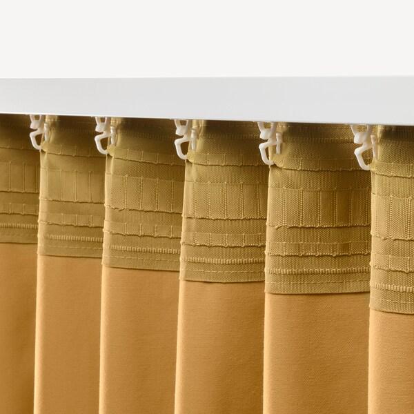 SANELA Sötétítőfüggöny, 1 pár, aranybarna, 140x300 cm