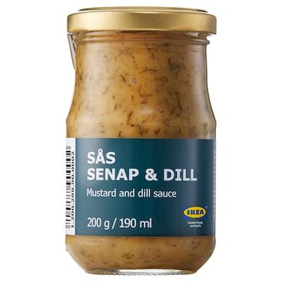 SÅS SENAP & DILL szósz lazachoz 200 gr