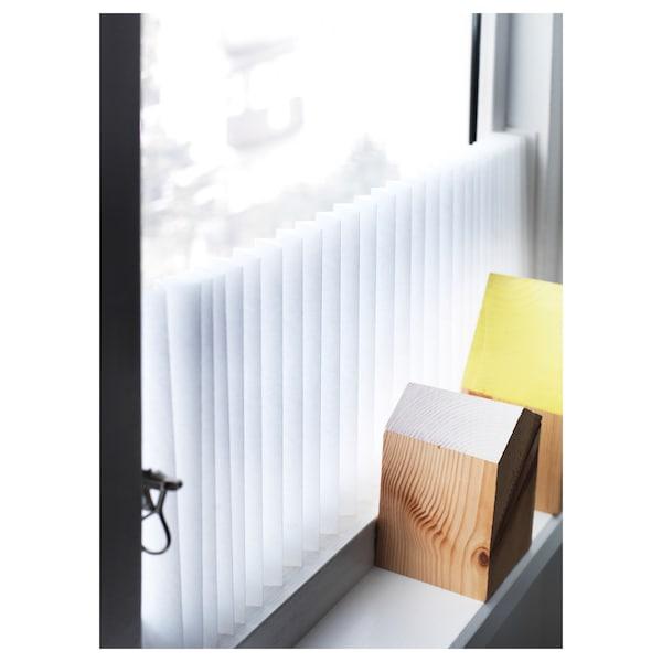 SCHOTTIS Pliszírozott redőny, fehér, 90x190 cm