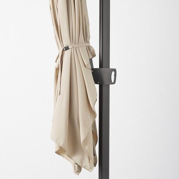 SEGLARÖ / SVARTÖ Függő napernyő talppal, dönthető bézs/sszürke, 330x240 cm