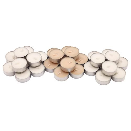 SINNLIG illatosított teamécses Édes vanília/natúr 38 mm 4 óra 30 darabos