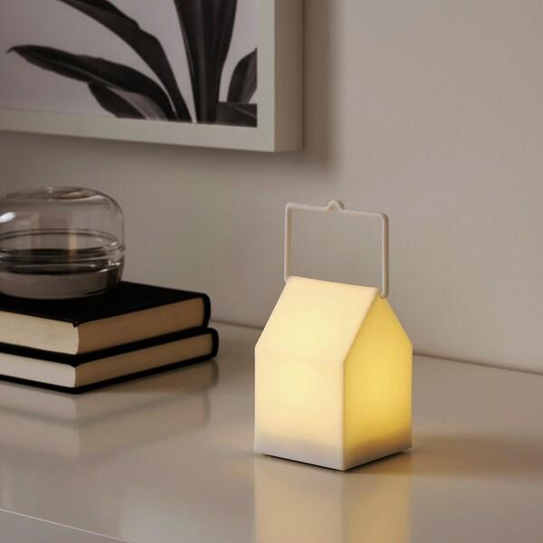 SKYHÖGT LED lámpás elemes/bel/kültér fehér 7 cm 11 cm
