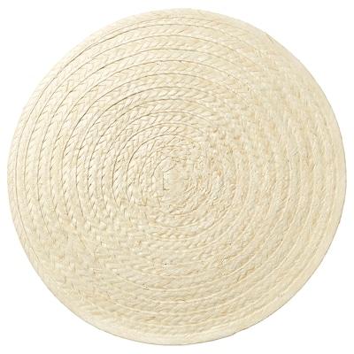 SLUTEN Tányéralátét, pálmalevél/natúr, 37 cm
