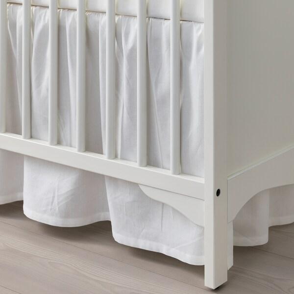 SMÅGÖRA Rácsos ágy, fehér, 60x120 cm