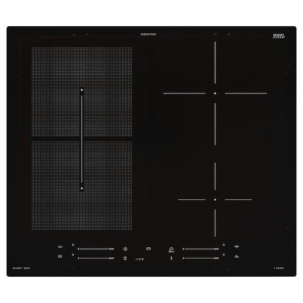 SMAKLIG Indukciós főzőlap, IKEA 500 fekete, 59 cm