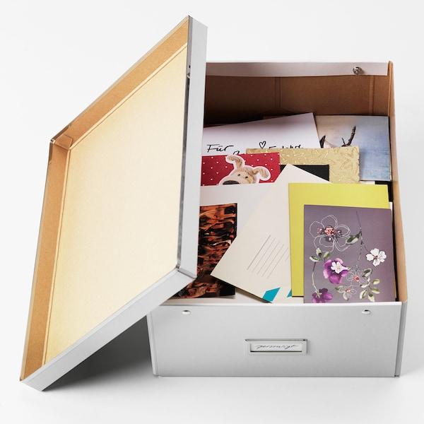 SMÅRASSEL doboz tetővel fehér 27 cm 35 cm 15 cm