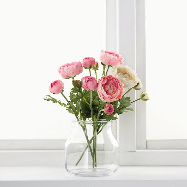 SMYCKA művirág boglárka/rózsaszín 52 cm