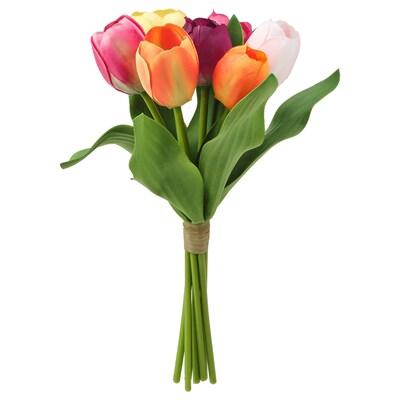 SMYCKA Művirág-csokor, bel/kültér Tulipán, 32 cm