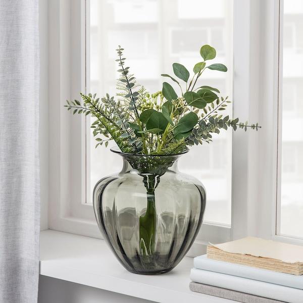 SMYCKA Művirág-csokor, bel/kültér zöld, 50 cm