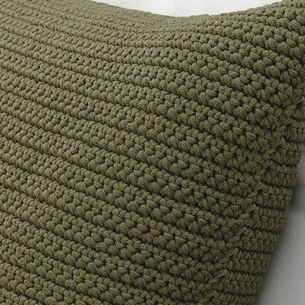 SÖTHOLMEN Párnahuzat, bel-/kültéri, bézs-zöld, 50x50 cm