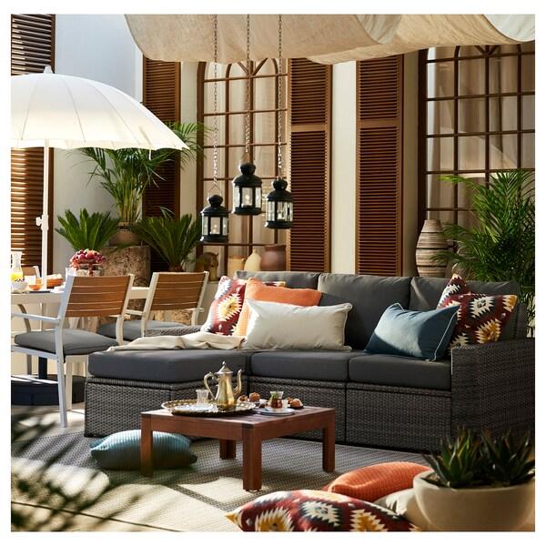 SOLLERÖN 3 üléses elemes kanapé, kültéri, lábtartóval sszürke/Frösön/Duvholmen sszürke