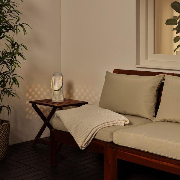 SOLVINDEN LED napelemes asztali lámpa, kúp alakú fehér, 27 cm
