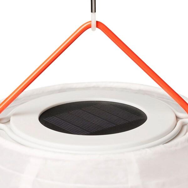 SOLVINDEN LED napelemes függőlámpa, kültéri gömb/rombusz-formájú, 30 cm