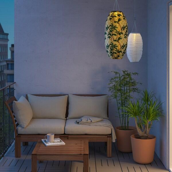 SOLVINDEN LED napelemes függőlámpa kültéri/ovális pálma mintás 2 lumen 30 cm 60 cm 60 cm