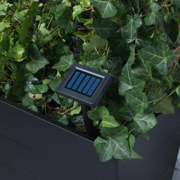 SOLVINDEN LED világító füzér 12 égővel kültéri napelemes/rombusz-formájú kék 3.0 m 19 cm 2.1 m 0.05 W 5.0 m