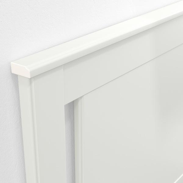 SONGESAND Ágykeret 4 tárolódobozzal, fehér/Lönset, 140x200 cm